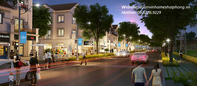 shophouse tai Vinhomes Riverside Hai Phong