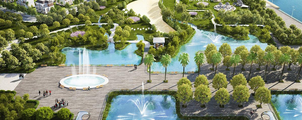 Tien ich xanh Vinhomes Riverside Hai Phong