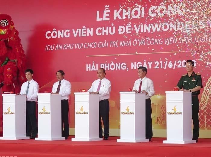 Lễ khởi công Công viên VinWonders Vũ Yên