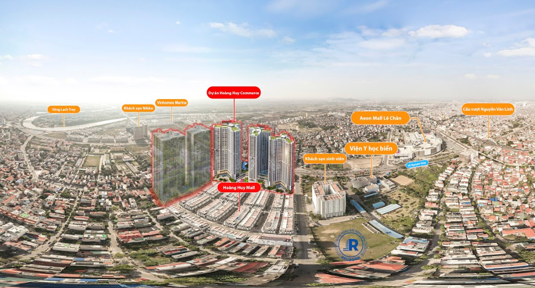Kết nối dự án Chung cư Hoàng Huy Commerce