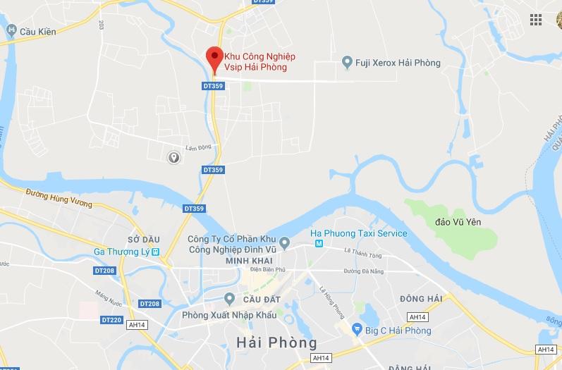 Vị trí dự án Khu đô thị Nam Long Hải Phòng